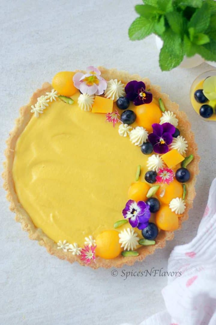 overhead image of mousse tart