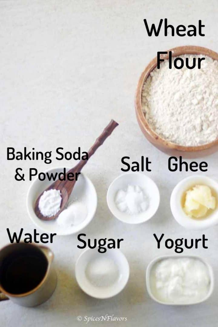 ingredients needed to make the roti