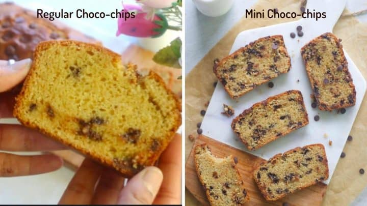 difference between using regular and mini choco chips