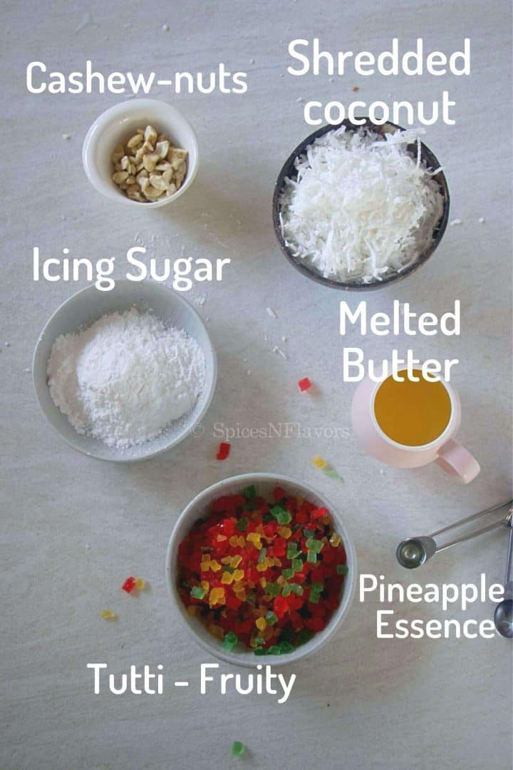 ingredients needed to make the dilpasand filling