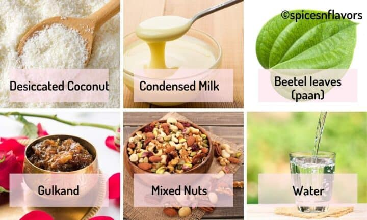 ingredients needed to make the ladoos