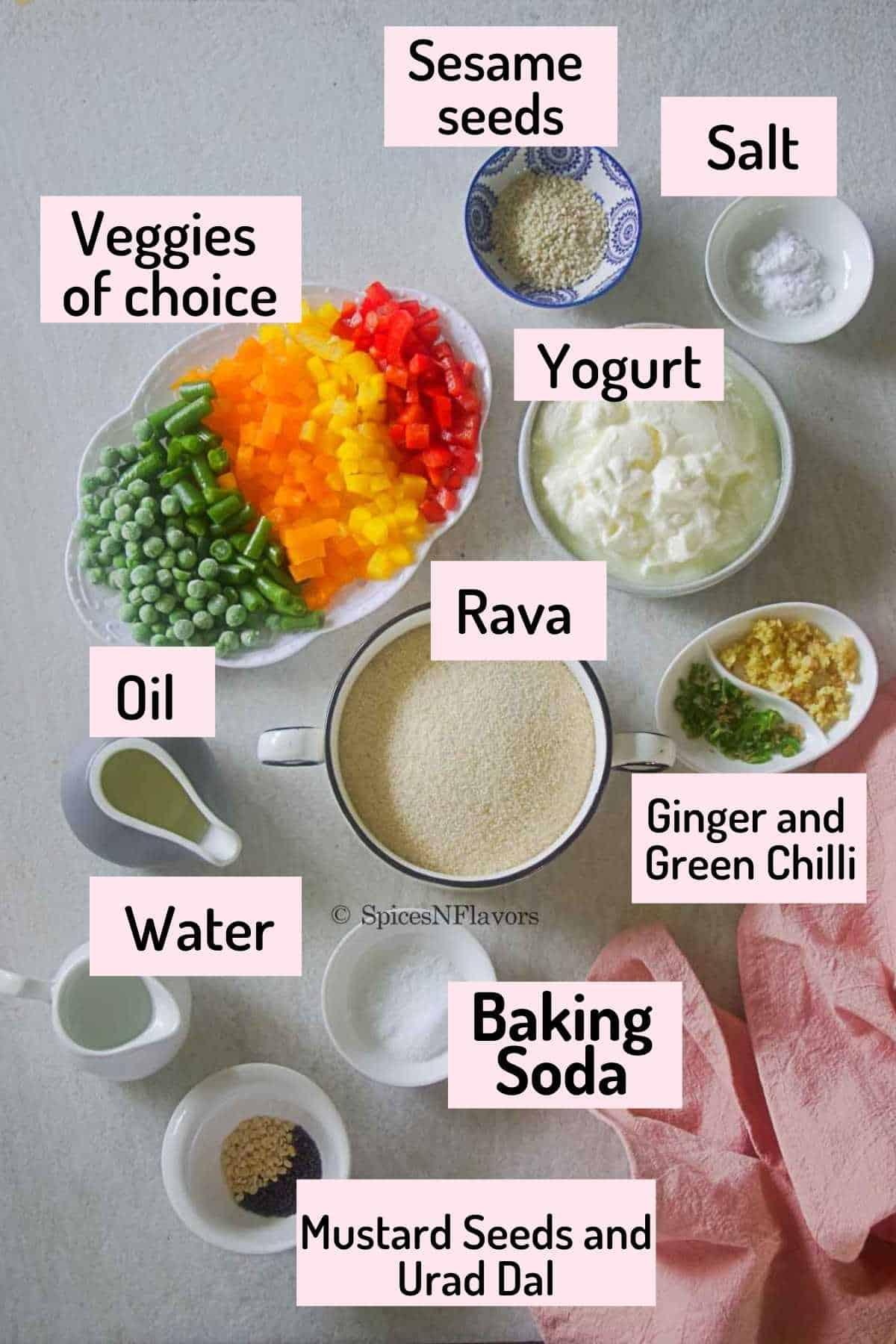 ingredients needed to make the savoury cake