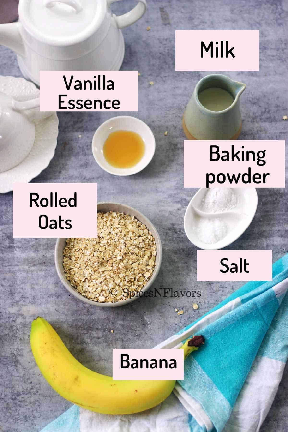 ingredients needed to make oats