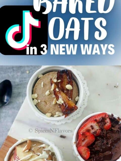 pin image of the tik tok fame baked oats