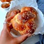 challah rolls recipe card image