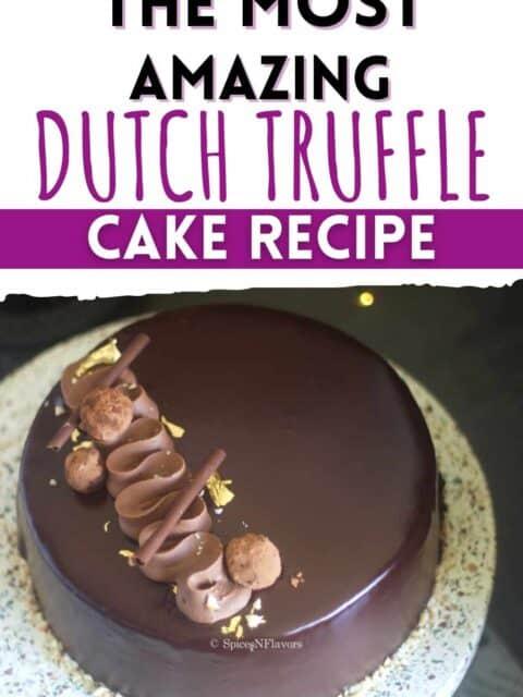 pin image for dutch truffle cake recipe