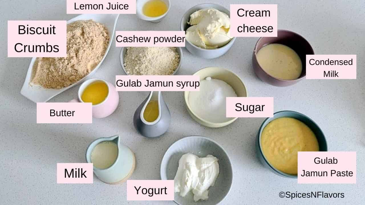 ingredients needed to make the cheesecake