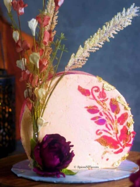 cropped image of the cake for recipe card